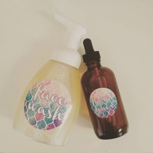 face wash and toner