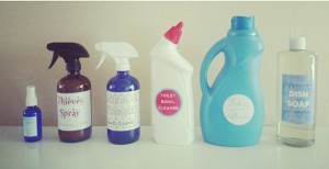 some of my first efforts in making my own household products!